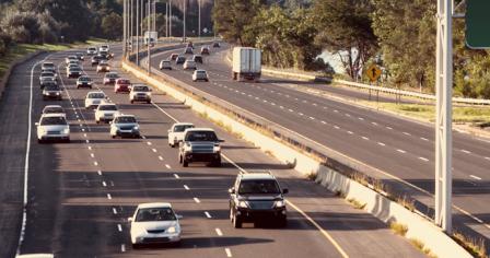 Vehicles on freeway