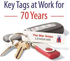 War Amps Key Tag Service Logo