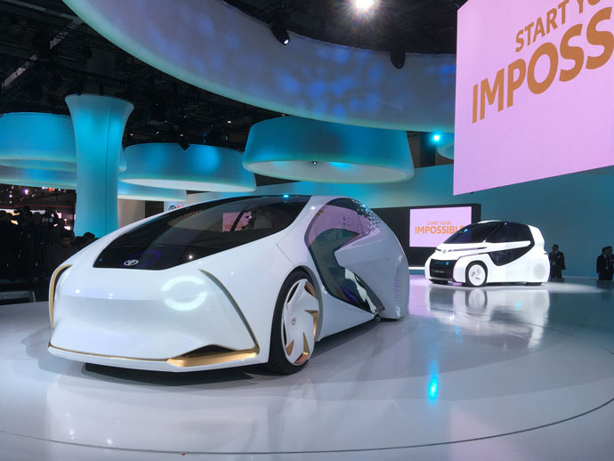 Toyota Concept-i on display