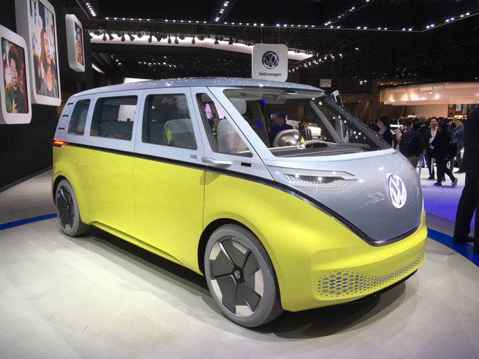 VW ID Buzz microbus on display