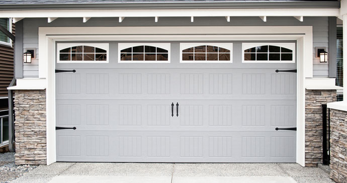 exterior of garage door and driveway